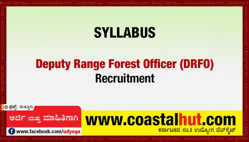 Forest-DRFO-Syllabus